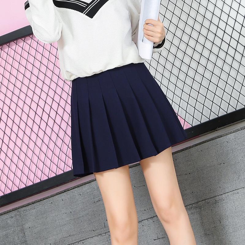 Japanese-style A- Line Skirt High-waisted Pleated Skirt Autumn And Winter Women's College Short Skirt Douyin INS Super Fire Skir