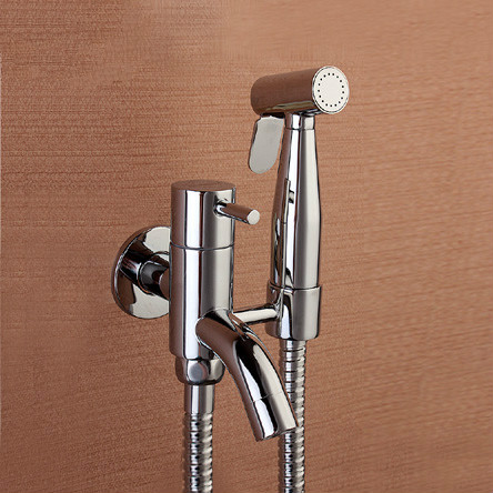 Bidets Copper pressurized shower head cleaning flush private parts bottom household toilet spray gun