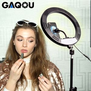 Image 2 - 30cm Video Light Dimmable LED Selfie Ring Light USB Photography Lamp with Remote Control Phone Holder stand for Makeup Youtube