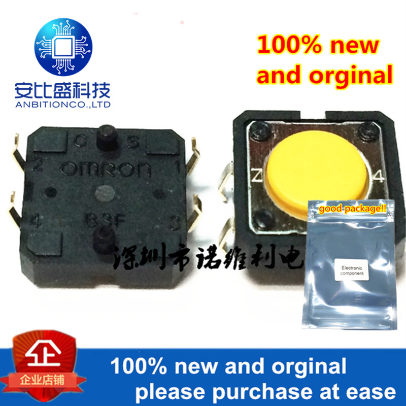10pcs 100% New And Orginal Light Touch Switch Elevator Key B3F-4005 12x12x4.3 Strength 2.55N In Stock
