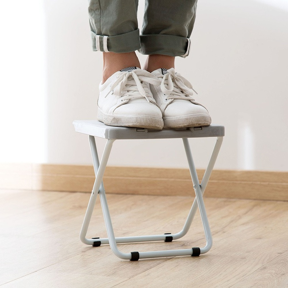 Japanese Style Simple Folding Stool Portable Train Folding Stool Adult Plastic Small Chair Home Folding Chair Bench Wy10124