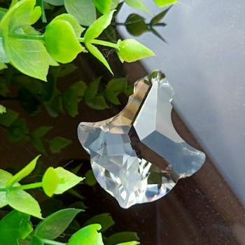 50mm jasne kryształy kurtyna koralikowa wisząca lampa kryształy pryzmaty Suncatcher wiszący Ornament Decor kryształ akcesoria do Lamp tanie i dobre opinie 45mm X532