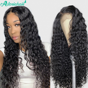 Asteria Water Wave 5x5 Lace Closure Wigs For Black Women Brazilian Lace Closure Human Hair Wigs 150% 180% Density Remy Lace Wigs(China)