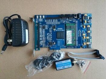 Placa de desarrollo PCIe X4 fpga, tablero EP4CGX75CF23I7 fpga PCIe x1 fpga, placa de desarrollo pcie kit altera cyclone IV GX