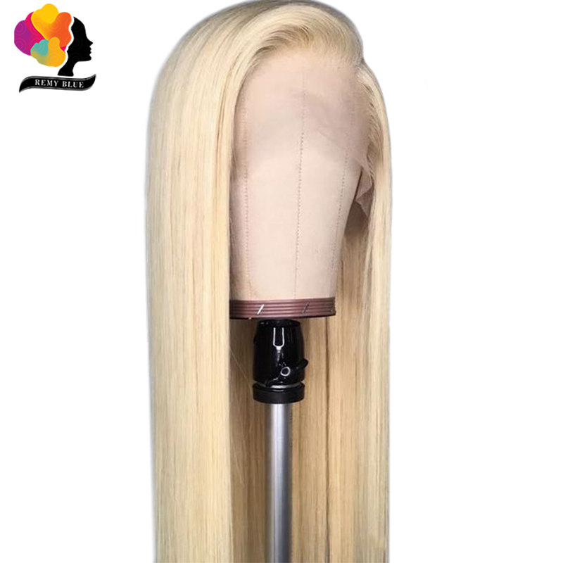 Remyblue 613 Blonde Full Lace Frontal Wig Pre-Plucked 150 Lace Front Human Hair Wigs Straight Hair Peruvian Remy Human Hair Wigs