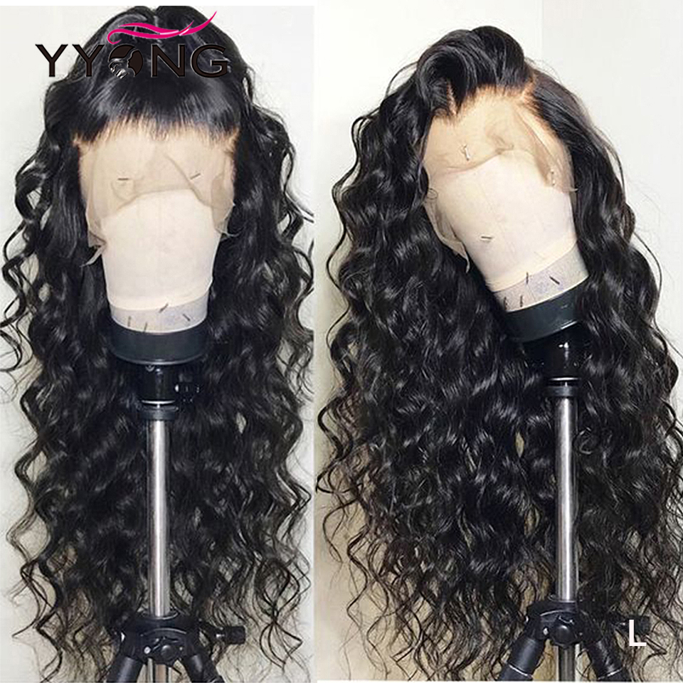 YYong Transparent HD Lace Front Wig 13x4 Lace Front Human Hair Wigs For Women Loose Deep Wave 4x4 Lace Closure Wig Low Ratio