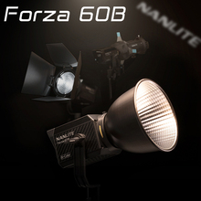Nanlite Nanguang Forza 60 60B lámpara LED de fotografía 60W 2700K 6200K al aire libre Magnum reflector COB iluminación Flash estroboscópico lámpara Bi Color
