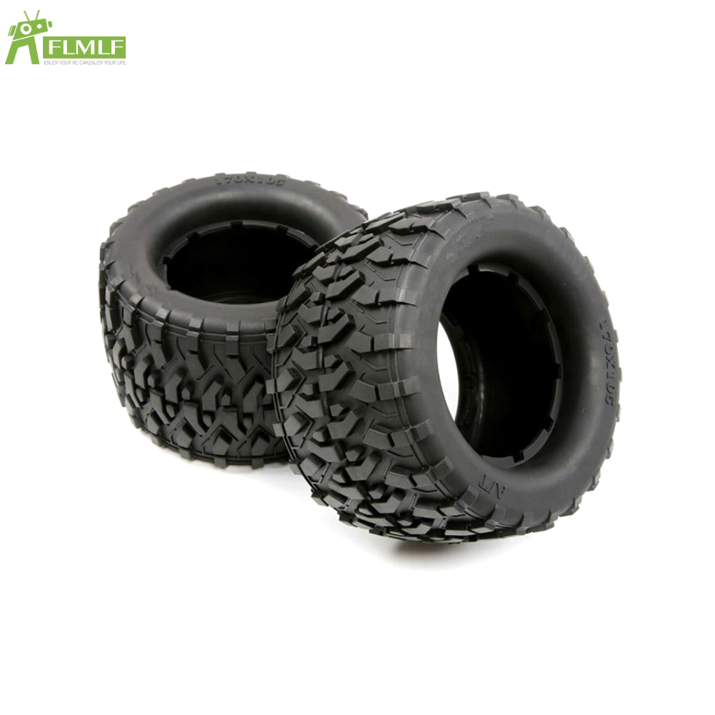 Rubber All Terrain Tire Kit Fit for 1/8 HPI Racing Savage XL FLUX Rofun Rovan TORLAND Monster Brushless Truck Rc Car Toys Parts image