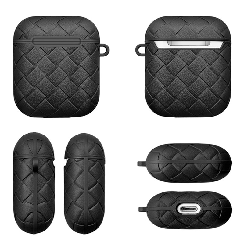 Woven Soft TPU Silicone Cover For Apple Air Pods 1 2 Case For Air Pods 2 Portable Keychain Wireless Bluetooth Earphone Box Cases (8)
