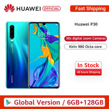 Asli Huawei P30 6GB + 128GB Kirin 980 Octa-Core Android 9 6.1 Inci OLED 2340X1080P IP53 NFC Kamera 40MP(China)