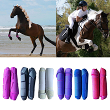 Horse Boots Equestrian Front Hind Tendon Boot Leg Protection, Horse Pony Jumping Boot Leg Protective - Absorbing, Breathable