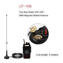 UT-108UV Two Way Radio VHF UHF SMA Magnetic Mobile long Antenna for BAOFENG CB Radio Walkie Talkie UV-5R UV-B5 UV-B6 GT-3