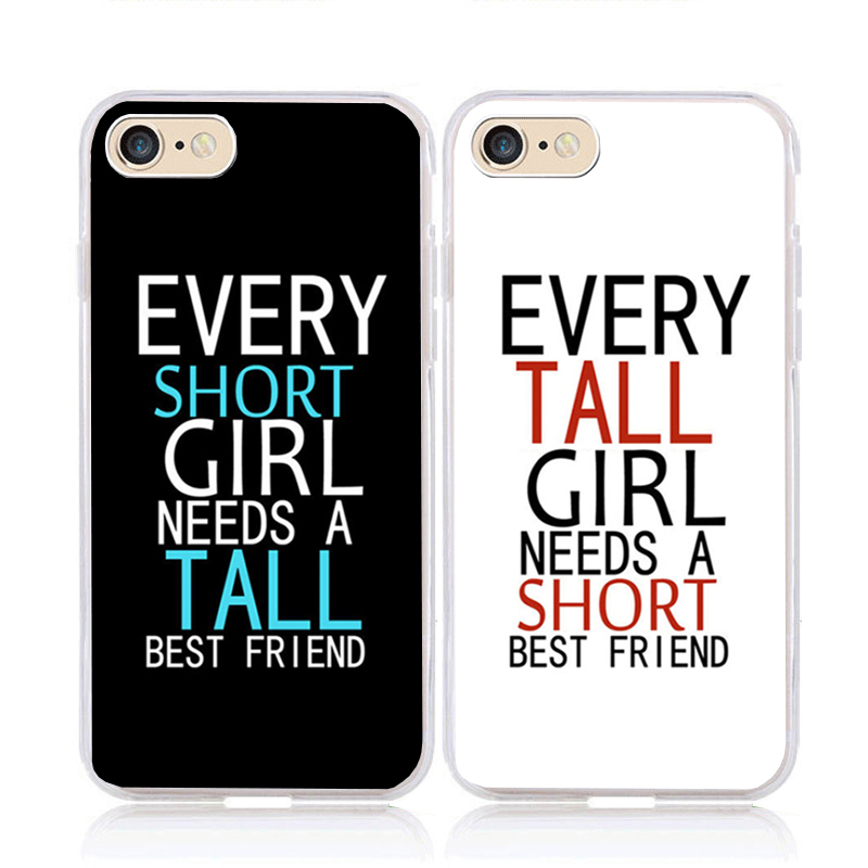 BFF two girls are best friends soft clear transparent phone case for iphone 5s se 6s 7 8 plus X XR XS MAX 11 pro max