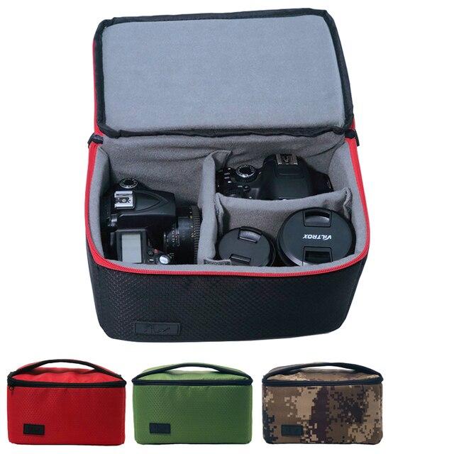 Advanced Diamond Lattice Waterproof DSLR Camera Bag Photography Soft Padded Insert Inner Handbag Camcorder Carry Case For Canon