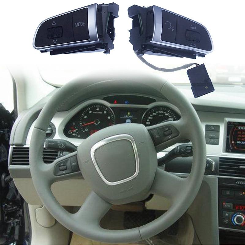 Car 4-Spoke Multifunctional Steering Wheel Button Switch For- A6 C6 A4 B8 Q5 A3 A5 A8 Q7 4E0 951 527 4E0 951 527 AJ