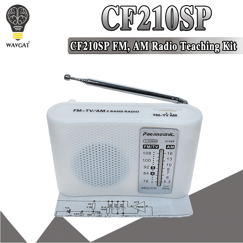 CF210SP AM/FM Stereo Radio Kit DIY Electronic Assemble Set Kit For Learner July DropShip DIY laboratory(China)