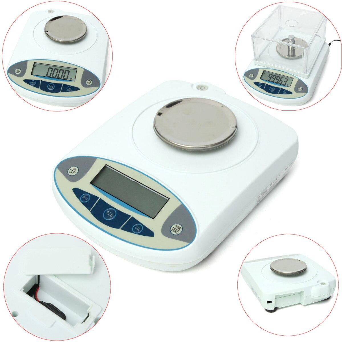 100x0.001g 1mg numérique LCD laboratoire laboratoire Balance analytique électronique bijoux Balance Mini Portable Balance de poids 100g - 3