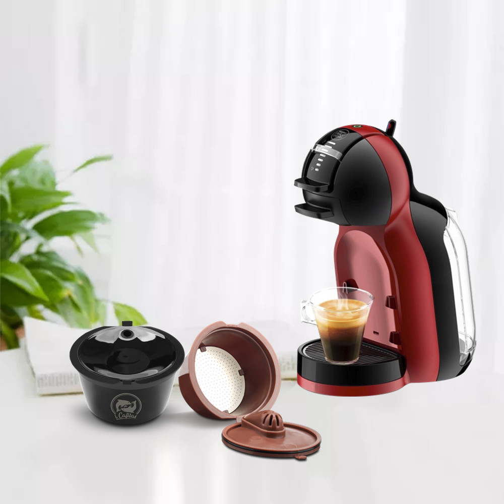 ICafilas Dolce Gusto Reusable Crema Coffee Capsule Cappuccino Filters Compatible With Nescafe Dolci Gusto Machine