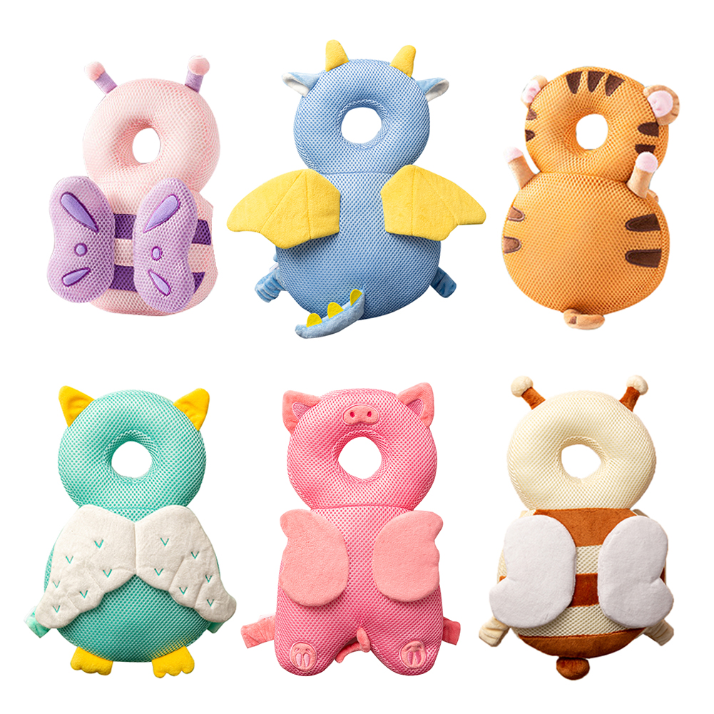 Baby Head Protection Pillow Cartoon Infant Anti-fall Pillow Soft PP Cotton Toddler Children Protective Cushion Baby Safe Care