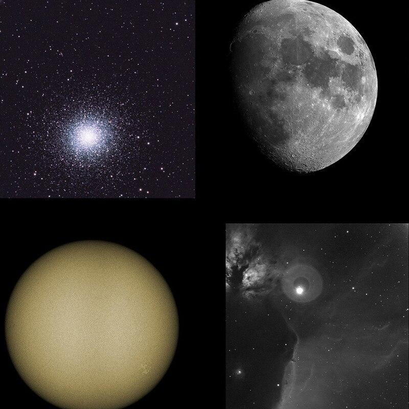 Telescópio profissional hd refração telescópio astronômico céu