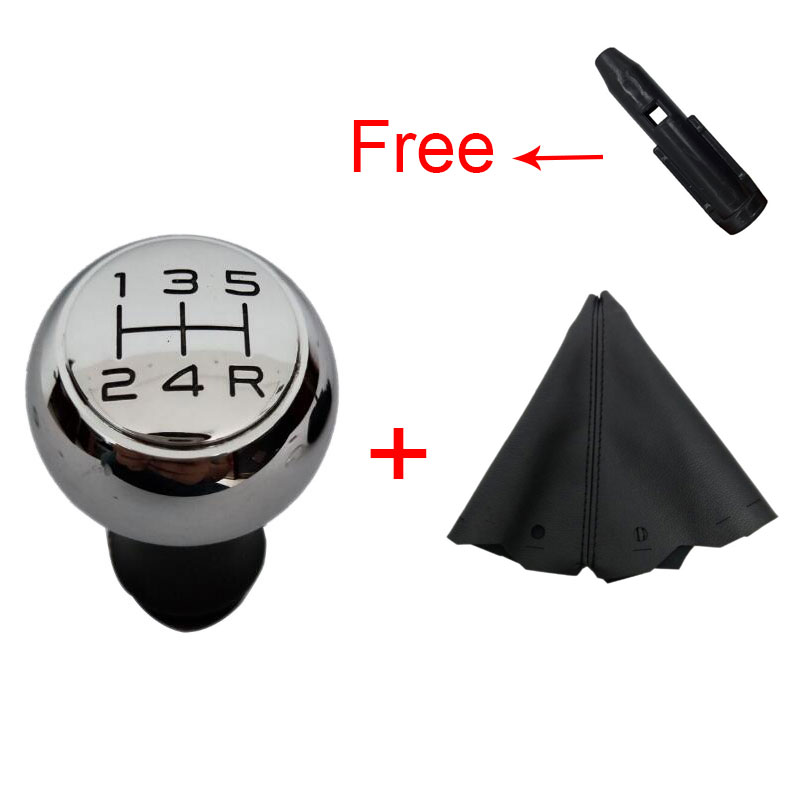 5 Speed Manual Car Gear Shift Knob VTS Sports And Leather For Peugeot 106 206 306 406 107 207 307 407 Triumph C5 Senna C2
