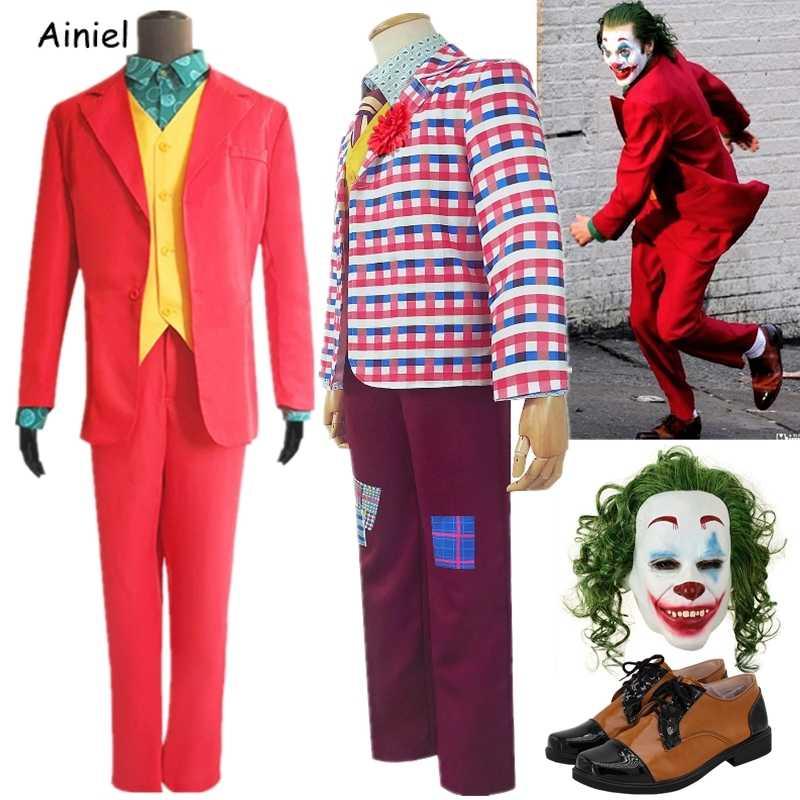 Vest Outfit Costume Cosplay Halloween Suit 2019 Joker Arthur Fleck Shirt