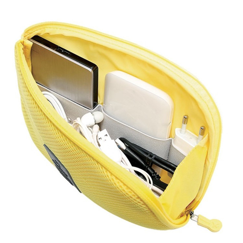 New Nylon S / L Hardware Headset Rechargeable Treasure Travel Bag Portable Electronic Accessories Cosmetic Storage Bag