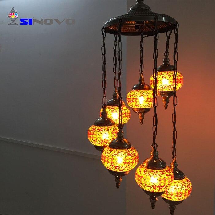 6 Sinovo Creativo di Stile Turco di Shenzhen Grande Albergo Ottone Antico Ramo Lampadario con Teste di Luce Lampadario Cucina - 6