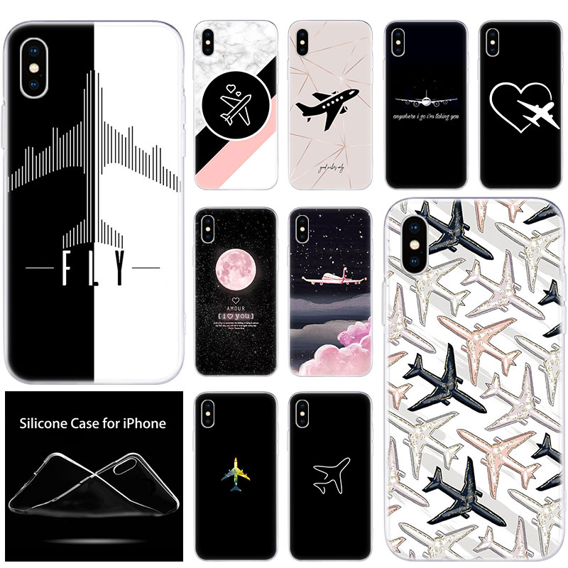Чехлы для мобильного телефона из мягкого силикона чехол самолета fly путешествия in the Sky для Apple iPhone 11 Pro XS Max X XR 6 6S 7 8 плюс 5 5S SE чехол
