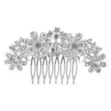 Linglewei New Hair Accessories Korean shiny Rhinestone Bridal Accessories wedding accessories alloy hair comb