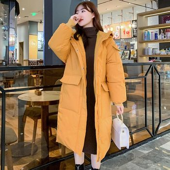 2020 Women Autumn Winter Jacket Coat With Pockets Hooded Down Cotton Long Parkas Winter Jacket Women Coat Outwear 2020 women autumn winter jacket coat with pockets hooded down cotton long parkas winter jacket women coat outwear female