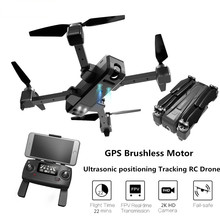 GPS Brushless Ultrasonic Drone With Camera HD 2K Selfie Drone RC quadcopter RC Helicopter 2.4G 1.6Km FPV 5G Racing Drone Toys