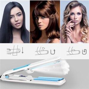 Image 2 - 전문 머리카락 Straightener 경기자 LED 디스플레이 전기석 세라믹 증기 증기 steaod 스트레이트 아이언 컬링 아이언