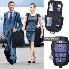 Waterproof Dustproof Black Zipper Garment Bag Suit Bag Durable Men Business Trip Travel Bag For Suit Clothing Case Big Organizer недорого