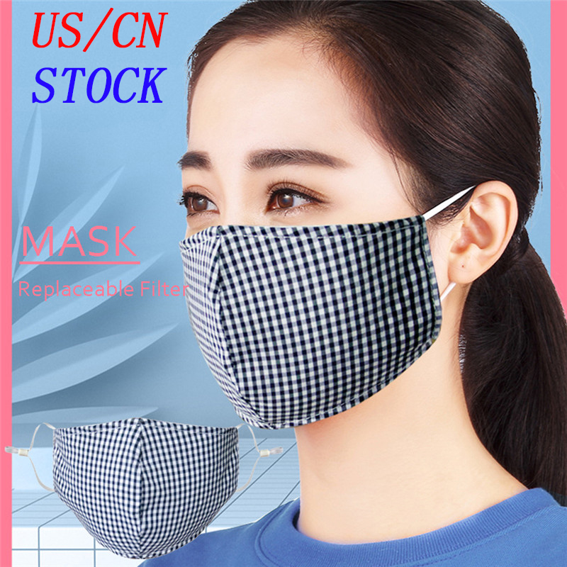 100pcs Filters + PM2.5 Mouth Mask Dust Respirator Washable Reusable Mask Unisex Cotton Mouth Muffle For Allergy/Asthma/Travel