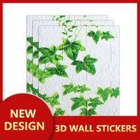 3D Self Adhesive Wall Sticker Waterproof Vinyl Wallpaper Kitchen Bathroom Living Room TV Background Wall Decoration