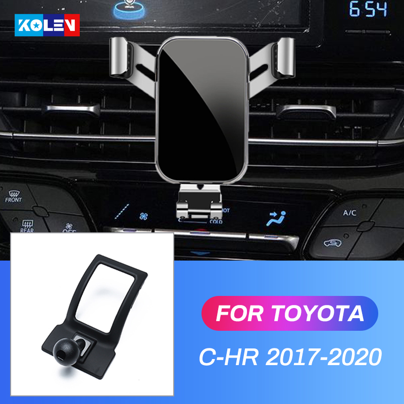 Support De Téléphone Portable Pour Voiture Pour Toyota C-HR 2017 2018 CHR 2017 2018 2019 de Téléphone portable d'évent de Support de Berceau De Montage Clip Support GPS