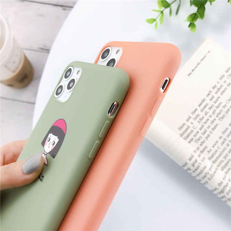Lovebay Silikon Ponsel Case untuk iPhone 7 XR 11 Pro Alpukat Gelombang Kaktus untuk iPhone 5SE 6 6 S 8 plus X XS MAX Lembut TPU Penutup Belakang