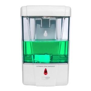 Image 2 - Настенный Бесконтактный пластиковый автоматический датчик дозатора жидкого мыла для ванной, кухни, большой емкости 600 мл/700 мл