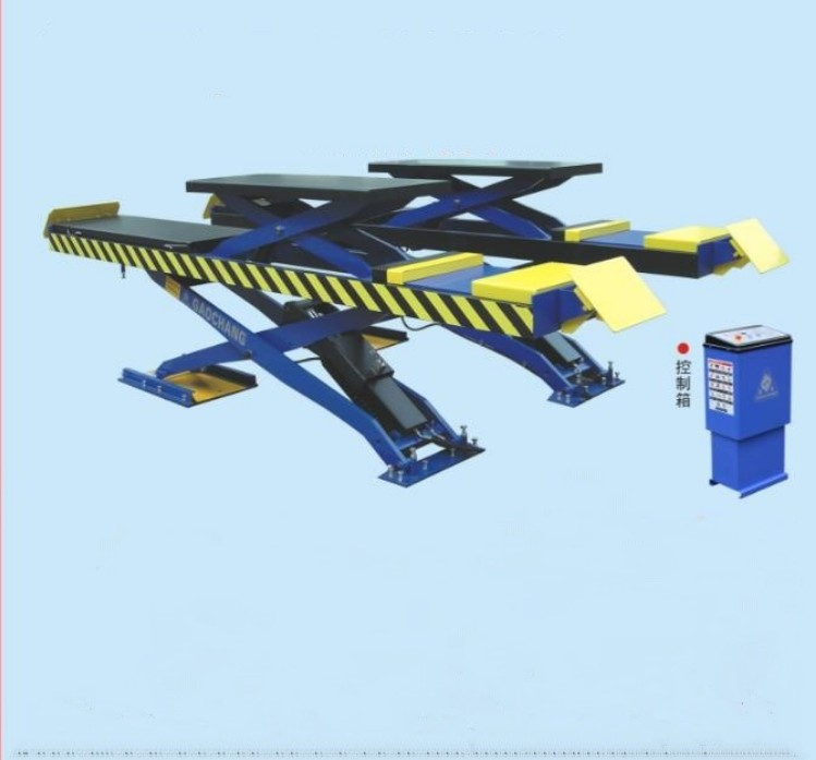 Popular Double-Level Platform Low Profile Scissor Lift For Four Wheel Alignment