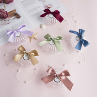 20 PCS/Set Transparent Plastic Shell Candy Box Chocolate Boxes Party Gift Box With Bowknot Party Decorations Kids Gift Box