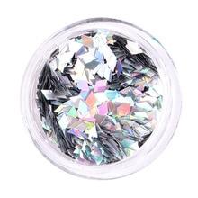 Nail-Decoration Diamond Paillette Glitter Beauty Love 1-Bottle 12-Colors Sequins Shapes