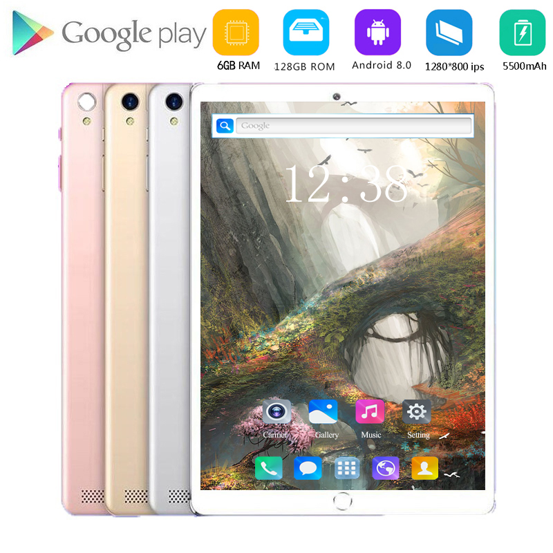New Original 10 Inch Tablet Pc Octa Core 4G Phone Call 10.1 Tablets 6G+128G Android 8.0 Tab Google Market GPS WiFi FM Bluetooth