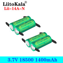 LiitoKala Lii-14A 18500 1400mAh 3.7 V akumulator Recarregavel akumulator litowo-jonowy do latarki + DIY nikiel