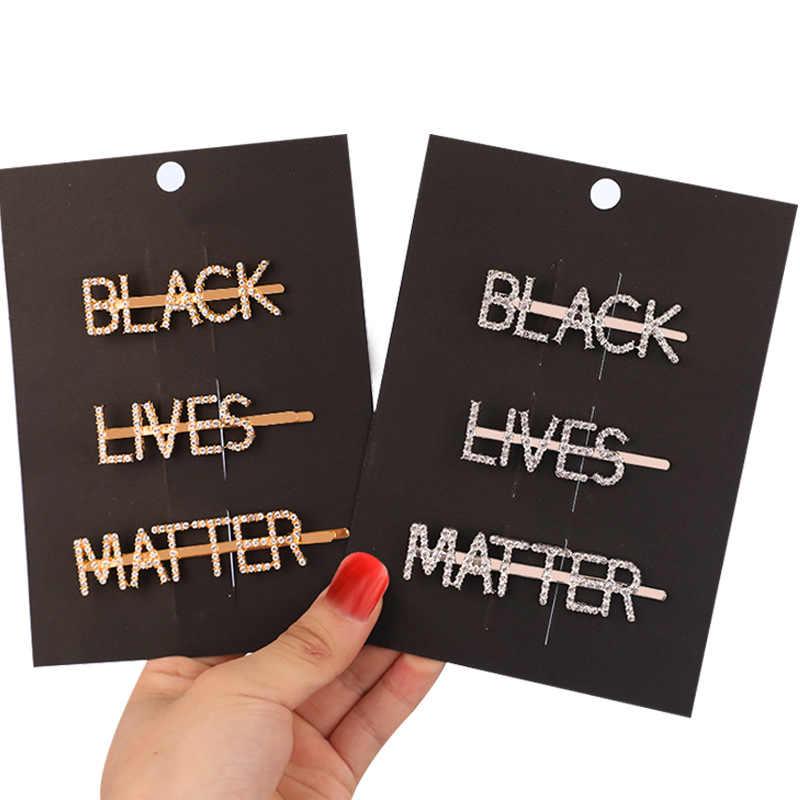 1 Set BLACK LIVES MATTER 여성 진주 헤어 클립 대머리 아름다운 헤어핀 헤어 스타일링 헤어 클립 크리스탈 우아한 바비 핀
