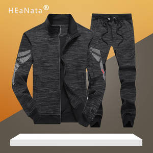 Outfits Exercise Clothing Sporting-Suit Fitness Black-Color Male Jogging Tracksui Men100%Cotton