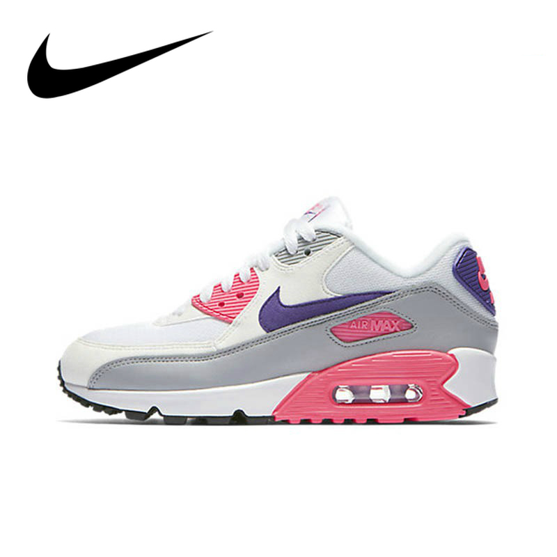 Original Authentic NIKE AIR MAX 90 ESSENTIAL Women's Running Shoes Sport Outdoor Sneakers Athletic Designer Footwear 325213