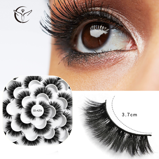Mink eyelashes 3d mink hair eyelashes10 pairs long makeup 3d faux nature fake lashes extension false eyelashes Wholesale (10P) 4