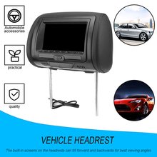 HD Universal 7 Inch Car Headrest Monitor Rear Seat Entertainment Player Car Accessories  for navigation DVD ABS + Faux Leather