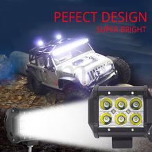 цена на 1pcs 18W Work Light Car Led Light Bar Lamp Cree Chip LED Motorcycle Tractor Boat Off Road 4WD 4x4 Truck SUV FOG LIGHT FOR ATV